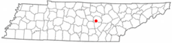 Location of Doyle, Tennessee