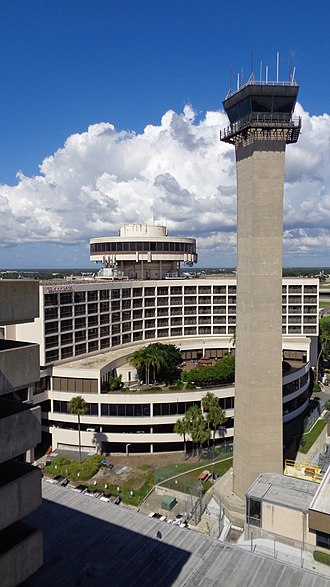 Tampa International Airport - Tampa Airport Marriott and air traffic control tower