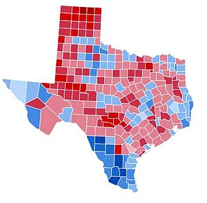 United States presidential election in Texas, 1988 - Image: TX1988
