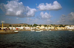 The port of Tadjoura in جبوتی.