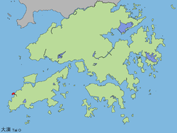 Location of Tai O within Hong Kong