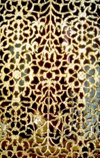 Delicacy of intricate pierce work.