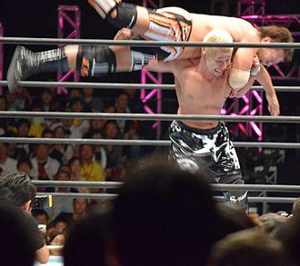 Yujiro Takahashi - Takahashi performing the Miami Shine on Satoshi Kojima