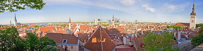 Tallinn panorama from Toompea, July 2008
