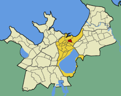 Raua within the district of Kesklinn (Midtown).