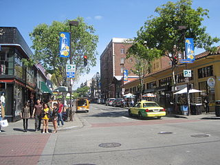 Telegraph Avenue street in Oakland and Berkeley, California