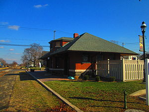 Telford, Pennsylvania - The former Reading Railroad and SEPTA station in Telford.
