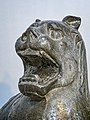 Temple guardian lion Northern Wei Dynasty (386-534 CE) China Limestone closeup.jpg