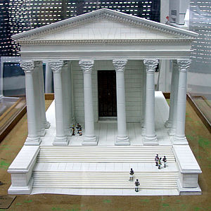 Temple of Hercules (Amman) - A model of how the temple was supposed to be completed