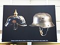 Temporary exhibition about WWI, gare de Paris-Est, 2014 (German helmets).jpg