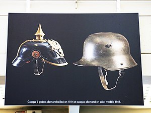 Weapons of World War I - German helmets went from leather to steel