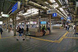 Tennōji Station - Platforms of Hanwa Line
