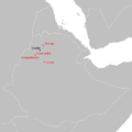 Tewodros' battles (1853 - 1855).png
