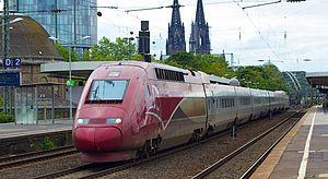 Thalys - Thalys PBKA at Köln Messe/Deutz station with an Essen-bound train
