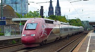 Thalys - Thalys PBKA at Köln Messe/Deutz station with an Essen-bound train