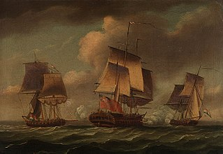 The 'Artois' capturing two Dutch privateers, 3 December 1781