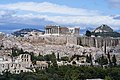 The Acropolis and Mount Lycabettus from the Philopappos Hill on July 11, 2019.jpg