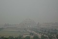 The Akshardham Temple covered by the heavy fog in the early morning, in East Delhi on January 07, 2010.jpg