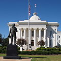 The Alabama State Capitol - The Duty Called statue and the southern facade - 2011.jpg