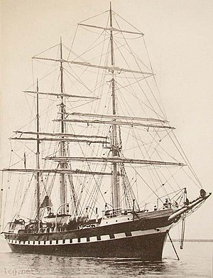 Aileen Plunket - The high masted yacht she toured in a few years before