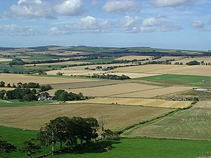 Battle of Inverurie (1308) - View of the Bruce Field, the site of the battle