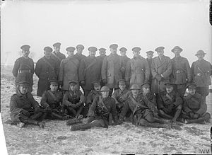 6th Canadian Infantry Brigade - Canadian officers on the Western Front, including the 6th Brigade's commander, Brigadier-General Huntly Ketchen, December 1916