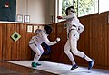 The Epee fencers Haris Levantides and Stamatis Koutsouflakis at Athenaikos Fencing Club.jpg