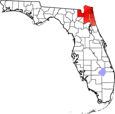 Location of First Coast in the state of Florida