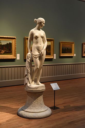 Hiram Powers - The Greek Slave by Hiram Powers at the Yale Art Gallery.