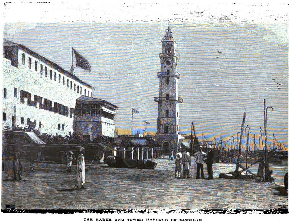 The Harem and Tower Harbour of Zanzibar (p.234, 1890) - Copy