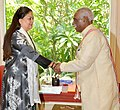 The Minister of State for Labour and Employment (Independent Charge), Shri Bandaru Dattatreya meeting the Chief Minister of Rajasthan, Smt. Vasundhara Raje Scindia, in Jaipur on May 19, 2016.jpg