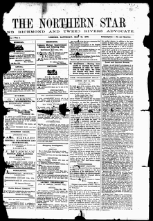 <i>The Northern Star</i> daily newspaper serving Lismore, New South Wales