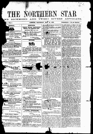 The Northern Star - Image: The Northern Star 13 May 1876