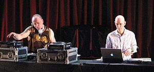 The Orb - Paterson and Fehlmann at a 2006 performance at the Walt Disney Concert Hall