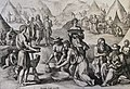 The Phillip Medhurst Picture Torah 400. The Israelites collect manna. Exodus cap 16 vv 14-17. De Jode.jpg