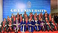 The President, Shri Pranab Mukherjee in a group photograph at the Annual Convocation of Goa University, in Goa.jpg