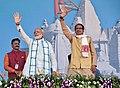 The Prime Minister, Shri Narendra Modi at the concluding ceremony of the Narmada Sewa Yatra & launching of Narmada Sewa Mission, in Amarkantak, Madhya Pradesh.jpg