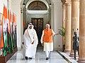 The Prime Minister, Shri Narendra Modi with the Prime Minister of Qatar, Sheikh Abdullah bin Nasser bin Khalifa Al Thani, at Hyderabad House, in New Delhi on December 03, 2016.jpg