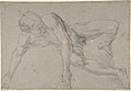 The Rape of Helena; verso- Study of a Kneeling Nude Male Figure MET DP802755.jpg