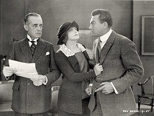 The Silver Horde (1920 film) - Still with Robert McKim, Myrtle Stedman, and Curtis Cooksey