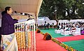 The Speaker, Lok Sabha, Smt. Sumitra Mahajan addressing at the foundation stone laying ceremony of the 72 special flats for the Members of Parliament of Lok Sabha, at B.D. Marg, in New Delhi on February 07, 2017.jpg