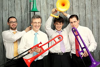 Brass instrument - Quartet with plastic trombones