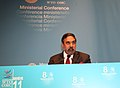 The Union Minister for Commerce & Industry and Textiles, Shri Anand Sharma addressing the Plenary Session of WTO Ministerial Conference, at Geneva on December 15, 2011.jpg