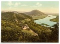 The Walhalla with view in the Danube Valley, Ratisbon (Regensburg), Bavaria, Germany-LCCN2002696172.tif