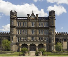 The West Virginia State Penitentiary, a retired, gothic-style prison in Moundsville, West Virginia, that operated from 1876 to 1995 LCCN2015631907.tif