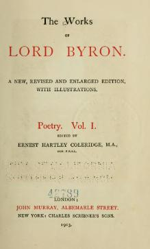 The Works of Lord Byron (ed. Coleridge, Prothero) - Volume 1.djvu