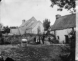 The church and inn, Cellan