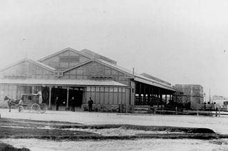 Fremantle railway station - The first Fremantle railway station, 1881