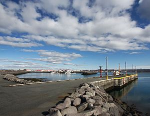 Vogar (municipality) - Image: The harbour at Vogar (4501375860)