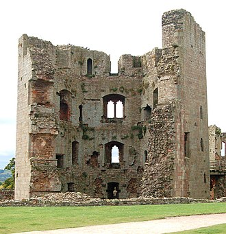 Raglan Castle - The slighted side of the Great Tower